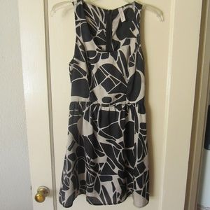 Black and grey patterned mini dress